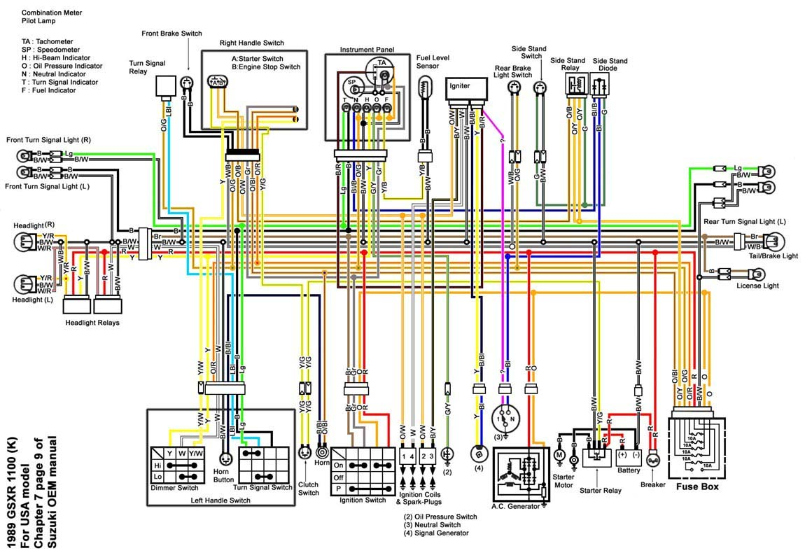 98 Suzuki Gsxr 1100 Wiring Diagrams - Block And Schematic Diagrams •