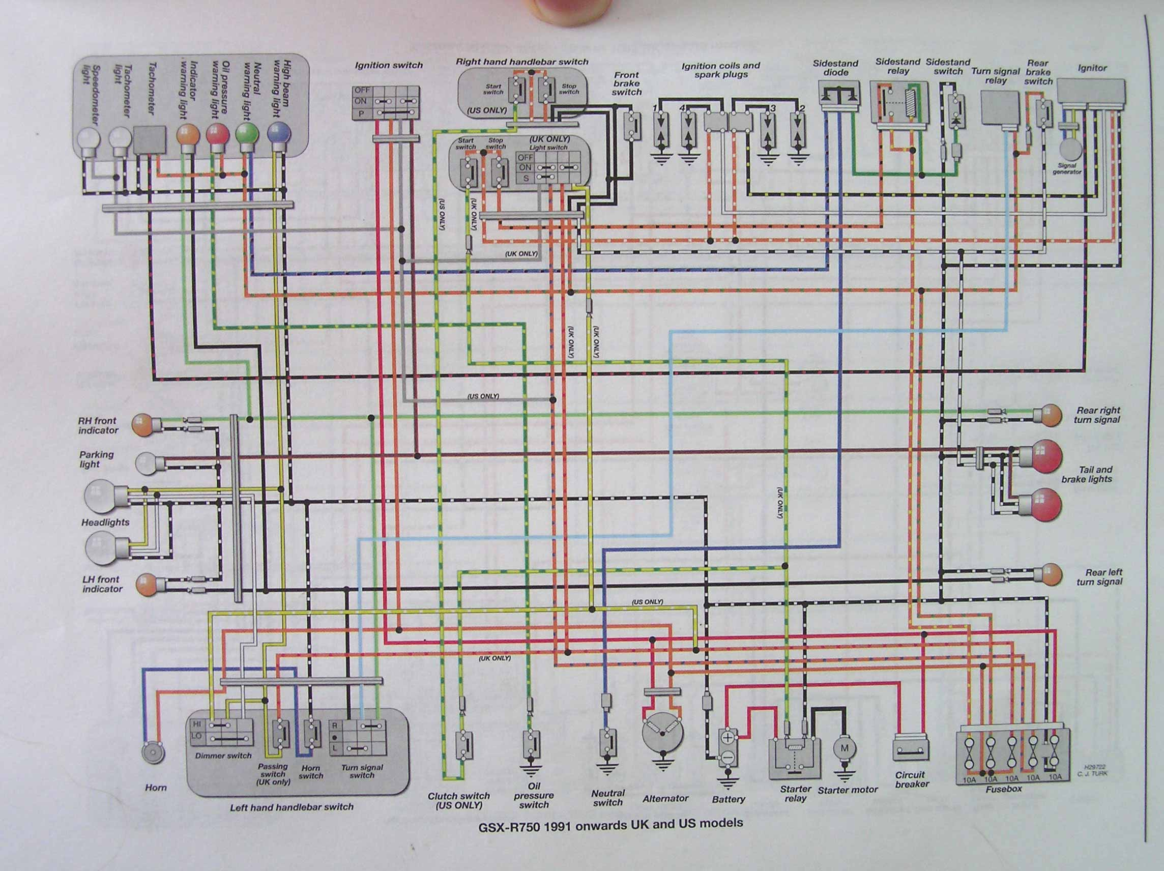 2000 gsxr 750 wiring diagram  2000  free engine image for