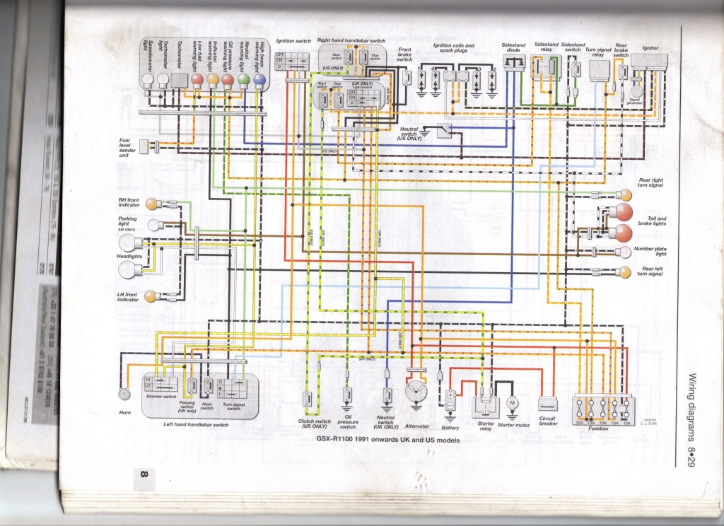91 Gsxr 1100 Wiring Diagram - DIY Wiring Diagrams •